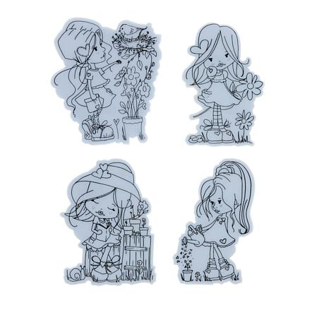 Little Darlings Holly Everyday Rubber Stamp Set