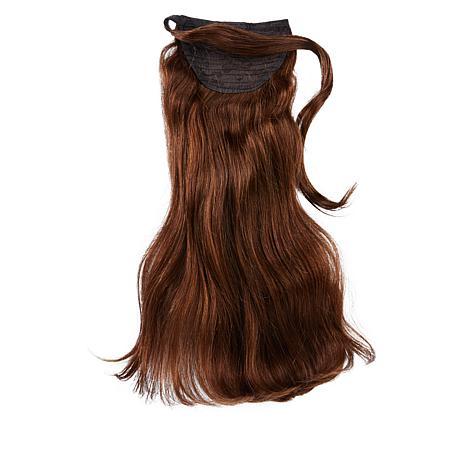 """Locks & Mane Milk Chocolate 14"""" Human Hair Clip Ponytail"""
