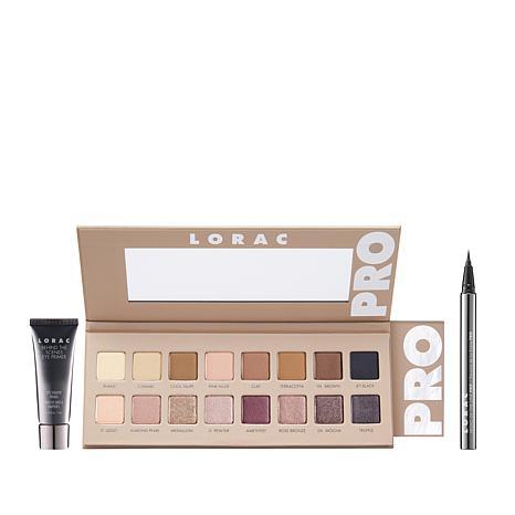 LORAC Pro 3 Eyeshadow Palette Set with Primer & Liner