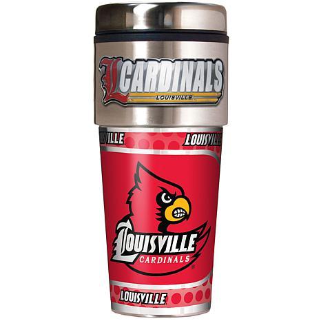 Louisville Cardinals Travel Tumbler w/ Metallic Graphics and Team Logo