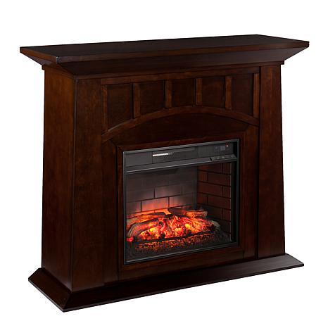 Lowery Infrared Electric Fireplace Espresso