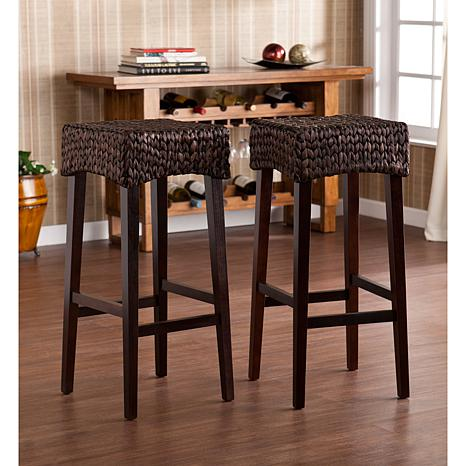 Lucena Water Hyacinth Set of 2 Barstools