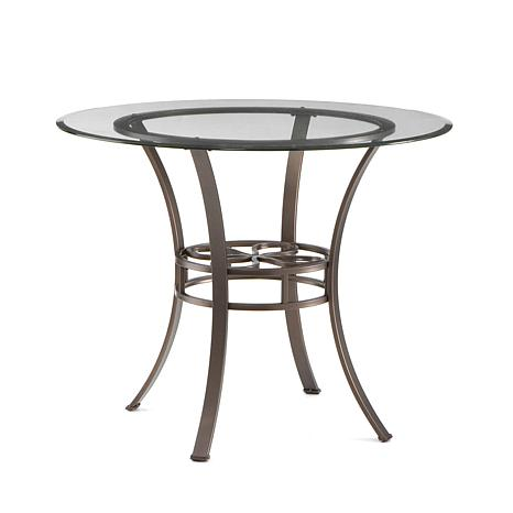Lucianna 38 Dining Table With Glass Top Dark Brown 6221879 HSN
