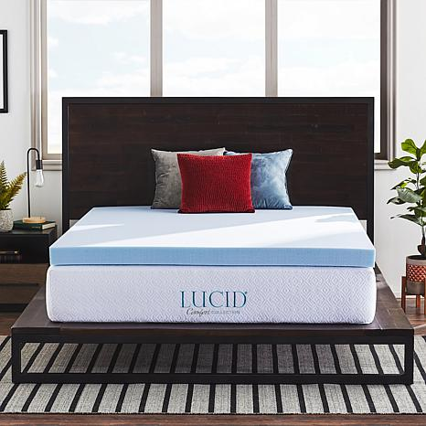 "LUCID Comfort Collection 4"" Gel Memory Foam Mattress Topper - Twin"