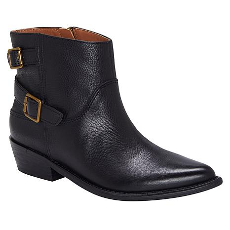Lucky Brand Caelyn Leather  Western Ankle Bootie