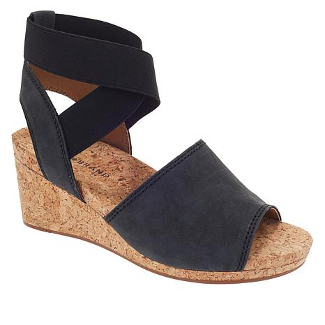 Lucky Brand Kyla Leather Ankle Wrap Wedge Sandal - 8917347