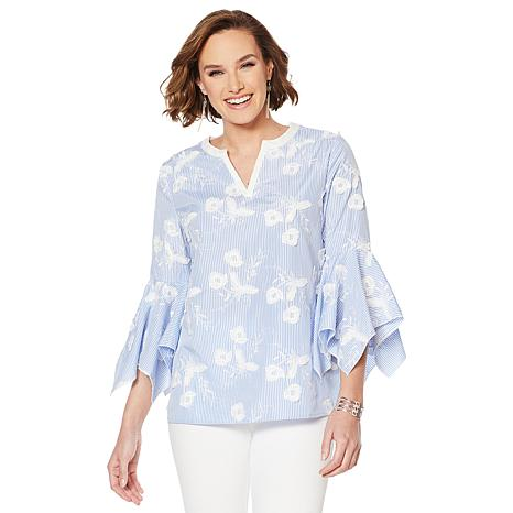 LYSSE Bell-Sleeve Meadow Blouse - Missy