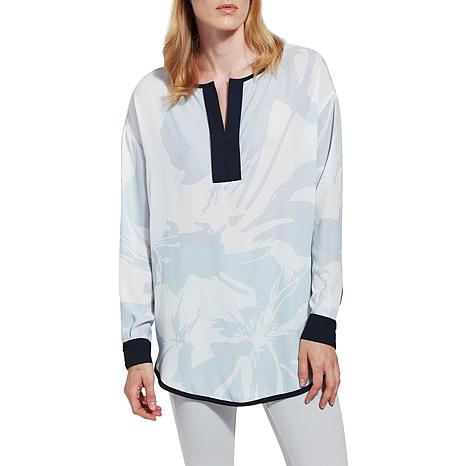 LYSSE Marina Long-Sleeve Printed Top