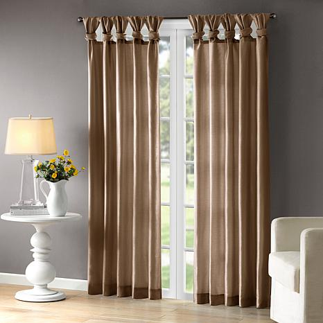 """Madison Park Emilia Curtain - Bronze - 50"""" x 84"""""""