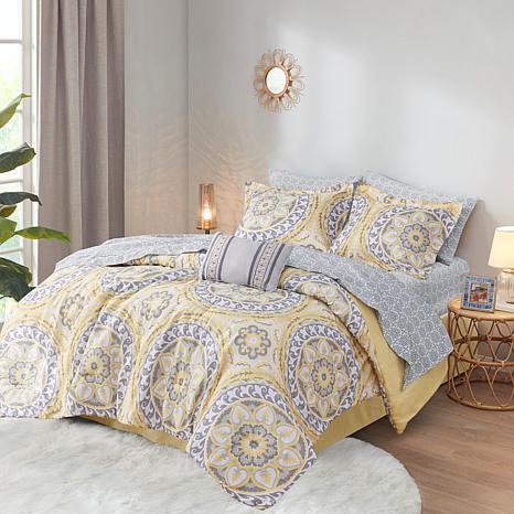 Madison Park Essentials Merritt 7-Piece Reversible Comforter and Sh...