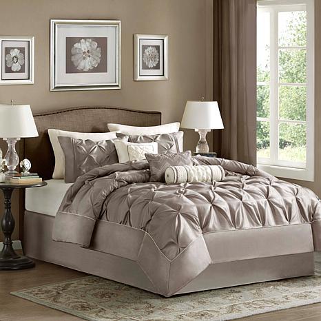 Madison Park Laurel Comforter Set King Taupe 7198137 Hsn