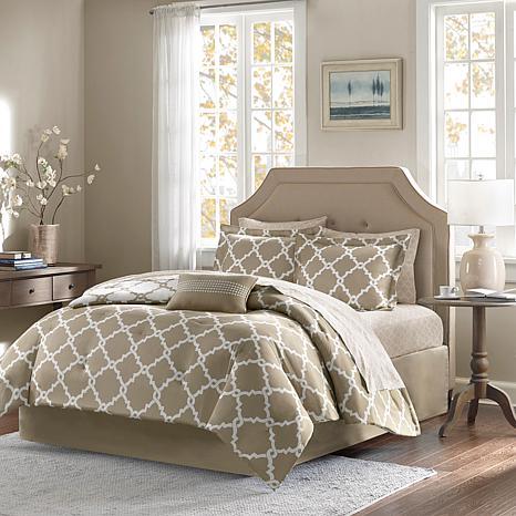 Madison Park Merritt 7pc Bedding Set - Twin/Taupe