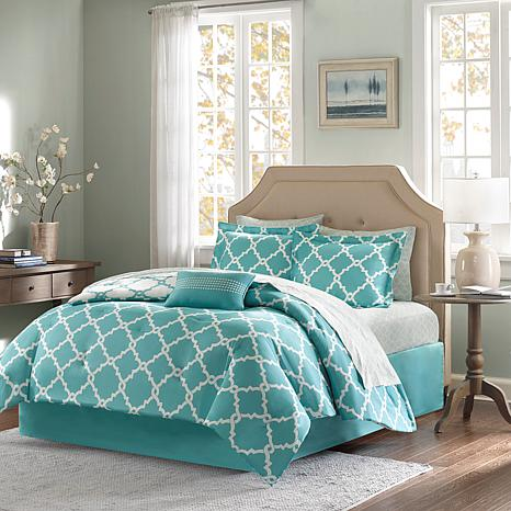 Madison Park Merritt 9pc Bedding Set - King/Aqua