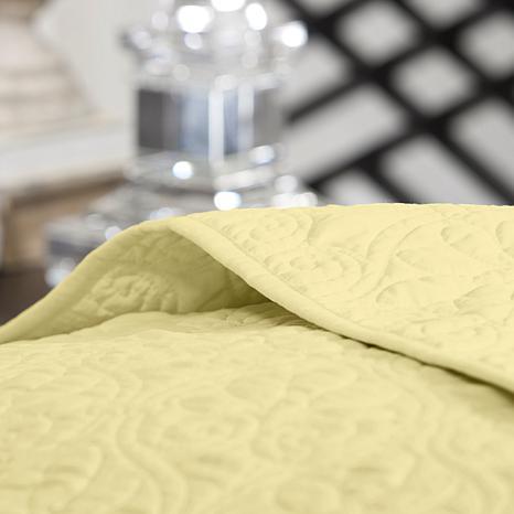 Madison Park Quebec King Quilted Bedspread Set - Yellow - 8331227 ... : yellow quilted bedspread - Adamdwight.com