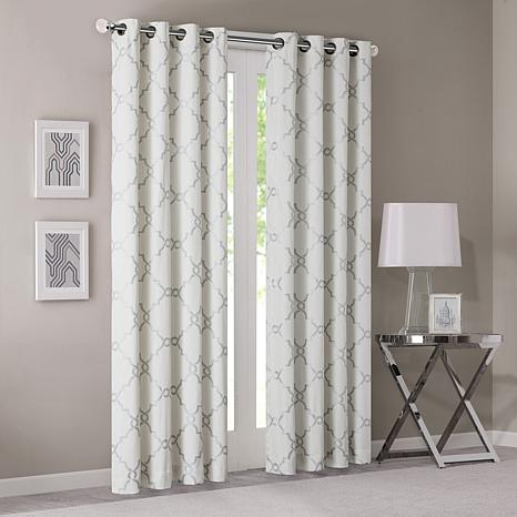 "Madison Park Saratoga Curtain - Ivory - 50"" x 63"""