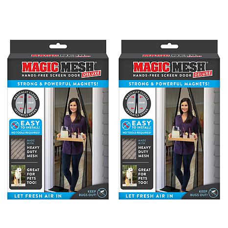 Magic Mesh™ Deluxe Hands-Free Magnetic Screen Door 2-pack