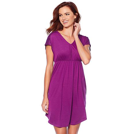 Maidenform Cap-Sleeve Chemise with Elastic Waist