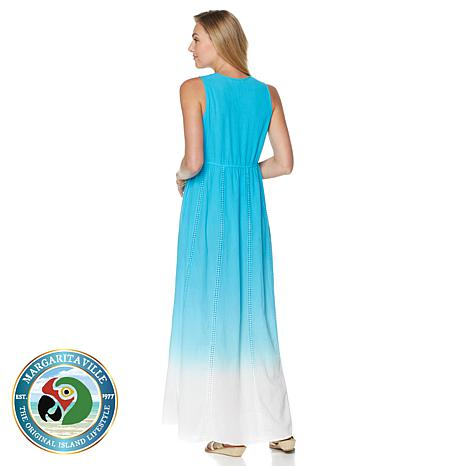 Margaritaville Ombré Gauze Maxi Dress - 8027869 | HSN