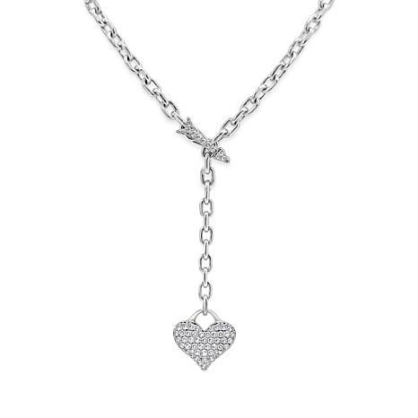 Margo Manhattan Charmagne Heart Lariat Necklace