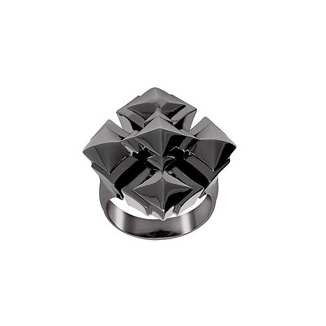 "Margo Manhattan ""Maxine"" Sterling Silver Black Rhodium Cross Ring"