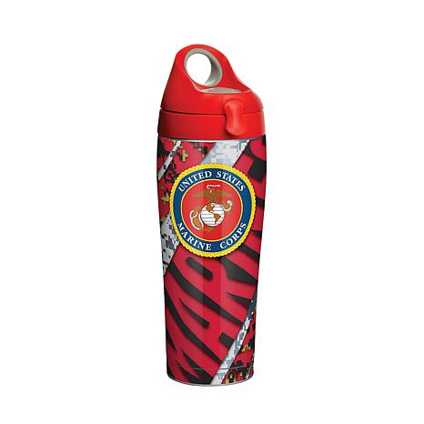 Marines 24 oz Stainless Steel Water Bottle with lid