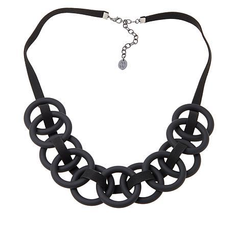 "MarlaWynne 28"" Interlocking Rings Necklace"