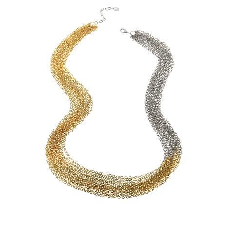 """MarlaWynne 42"""" Ombre Multi-Row Chain Necklace"""