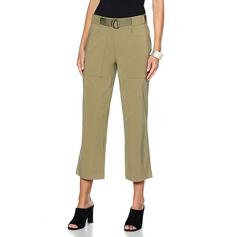 MarlaWynne Bengaline Cropped Pant with Belt