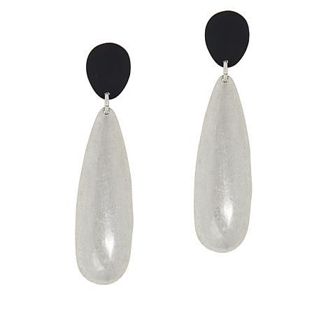 MarlaWynne Brushed Pear Drop Earrings