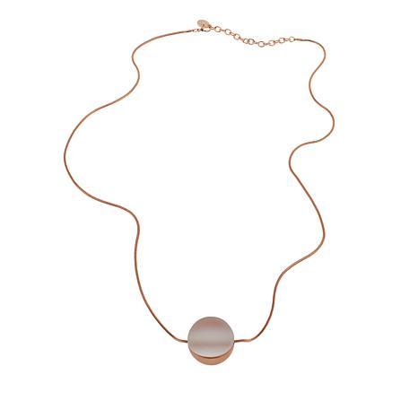 "MarlaWynne Frosted Glass and Metal 36-1/4"" Ball Necklace"