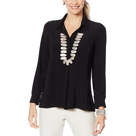 MarlaWynne Jersey High-Low Hem Shirt
