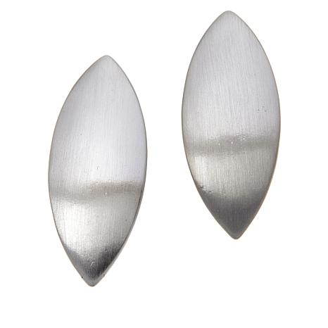 MarlaWynne Marquise Brushed Stud Earrings