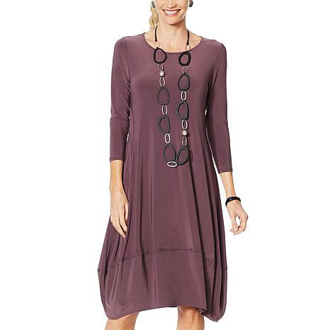 MarlaWynne Matte Jersey Dress with Pockets