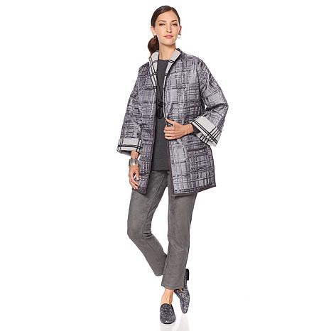 MarlaWynne Reversible Patterned Topper Coat