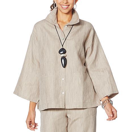 MarlaWynne Striped Linen Box Shirt