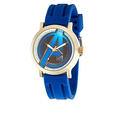 Marvel Avengers Endgame Men's Goldtone Blue Rubber Strap Watch