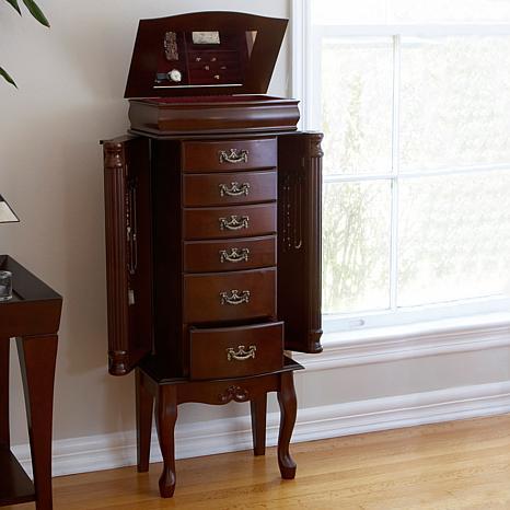 Medium Mahogany Jewelry Armoire - 6408522 | HSN