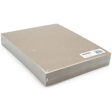 Medium Weight Chipboard Sheets 8.5X11 25/Pkg - Natural