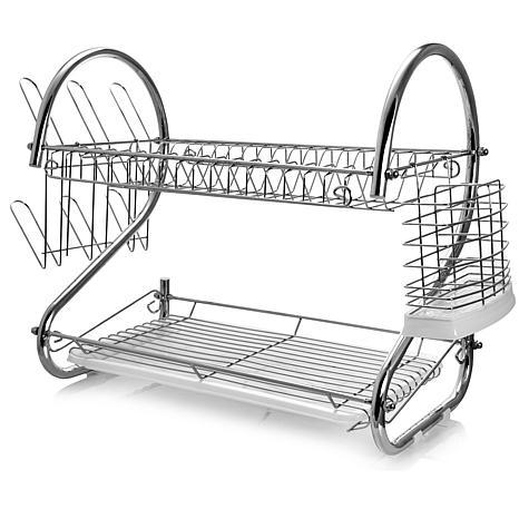 "Mega Chef 16"" Two Shelf Dish Rack"