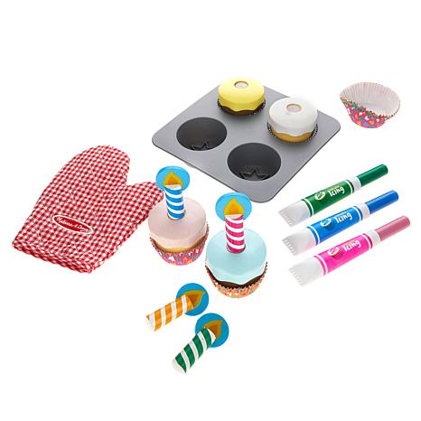 Melissa & Doug Pretend Play Bake & Decorate Cupcake Set