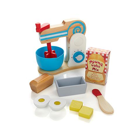 Melissa & Doug Pretend Play Wooden Cake Mixer Set