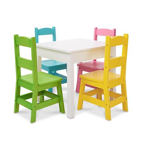 Melissa & Doug Table and 4 Chairs - Pastel