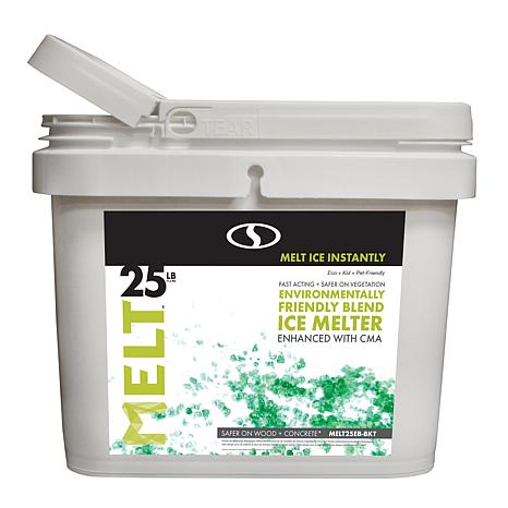 MELT 25lb. Bucket Environmentally-Friendly Blend Ice Melter with CMA
