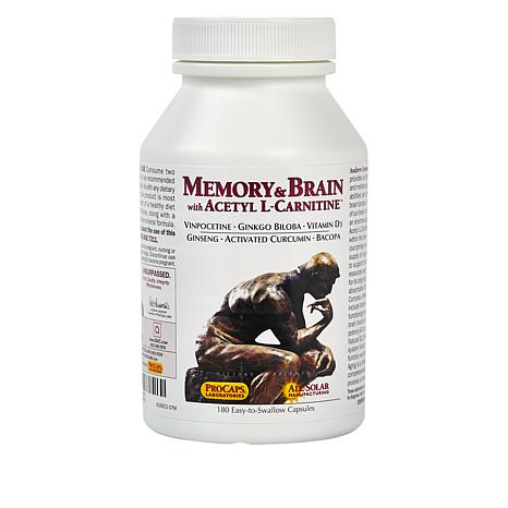 Memory and Brain with Acetyl L-Carnitine - 180 Capsules