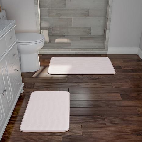Memory Foam 2-piece Bath Mat Set - Ivory