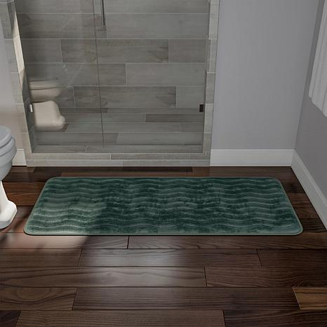 Memory Foam X Extra Long Bath Rug Mat HSN - Bathroom rug runner 24x60 for bathroom decor ideas