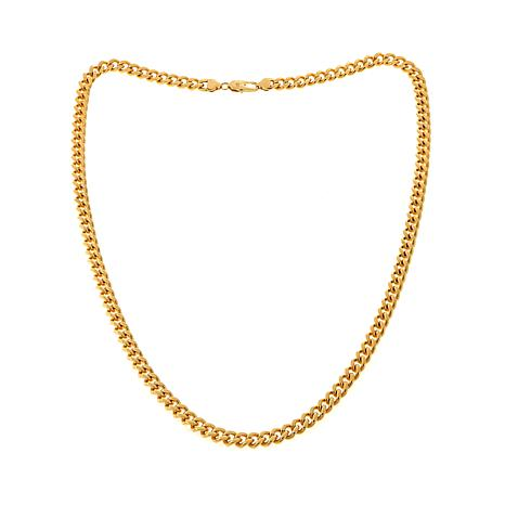 Men's 8.5mm Goldtone Stainless Steel Curb Chain