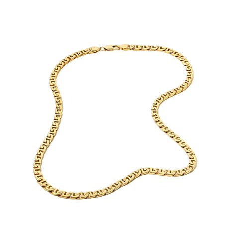 "Men's Goldtone Stainless Steel Mariner Link 24"" Chain"