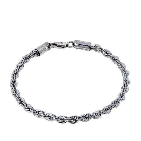 Men S Stainless Steel Rope Chain 8 3 4 Bracelet