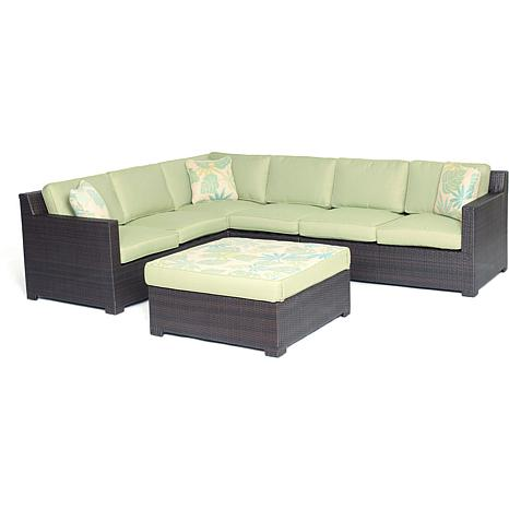 Metropolitan 5pc Outdoor Lounge Set - Avocado Green